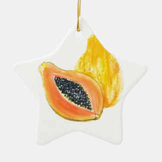 Ornement Étoile En Céramique Couleur pour aquarelle de papaye