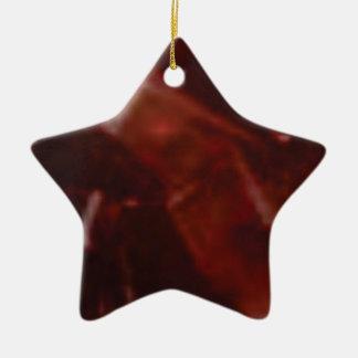 Ornement Étoile En Céramique coupe rouge foncé de pierre