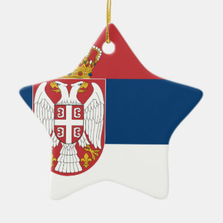 Ornement Étoile En Céramique Coût bas ! Drapeau de la Serbie
