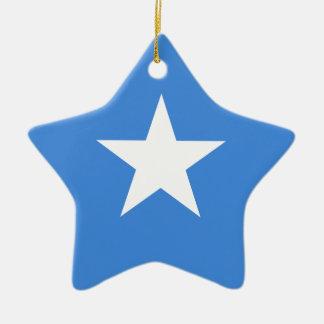 Ornement Étoile En Céramique Coût bas ! Drapeau de la Somalie