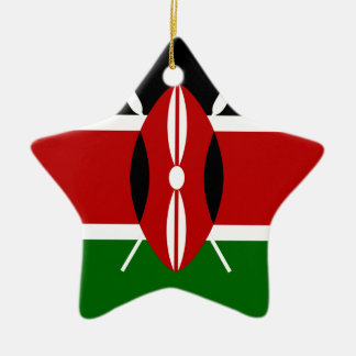 Ornement Étoile En Céramique Coût bas ! Drapeau du Kenya