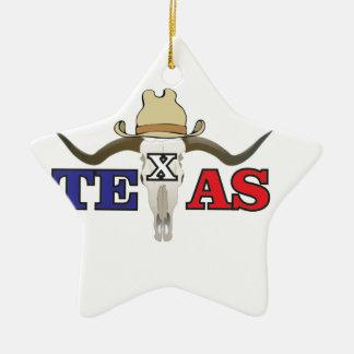 Ornement Étoile En Céramique cowboy mort le Texas