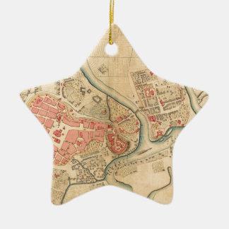 Ornement Étoile En Céramique Cracovie Pologne 1755