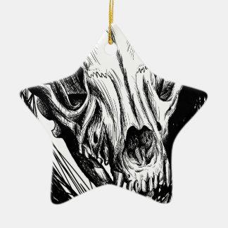 Ornement Étoile En Céramique Crâne animal