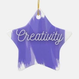 Ornement Étoile En Céramique Créativité