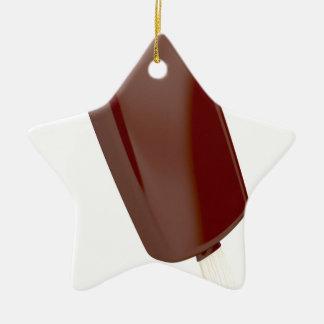 Ornement Étoile En Céramique Crème glacée de chocolat