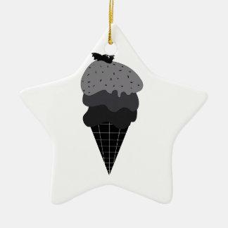 Ornement Étoile En Céramique Crème glacée foncée
