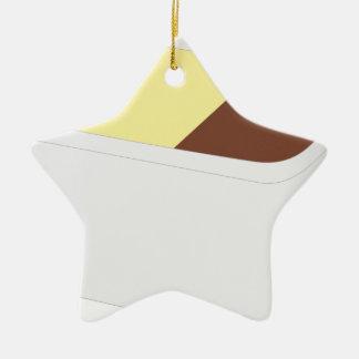 Ornement Étoile En Céramique Crème glacée napolitain