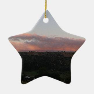 Ornement Étoile En Céramique Crépuscule 1
