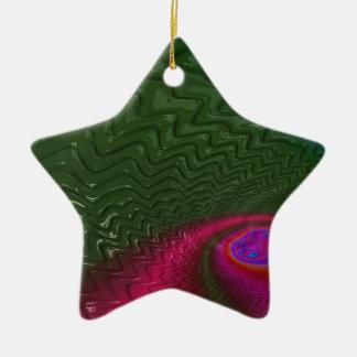 Ornement Étoile En Céramique Crépuscule de fractale de vent