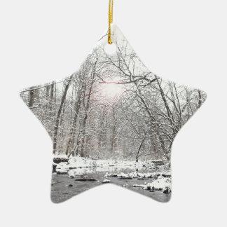 Ornement Étoile En Céramique Crique - hiver