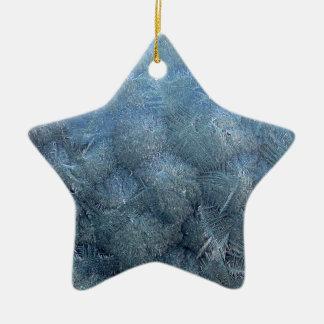Ornement Étoile En Céramique Cristaux de glace