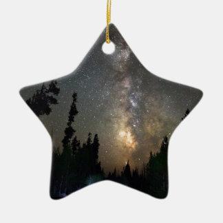 Ornement Étoile En Céramique Croisière de nuit de manière laiteuse de chemin