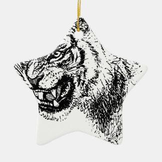 Ornement Étoile En Céramique Croquis principal de tigre