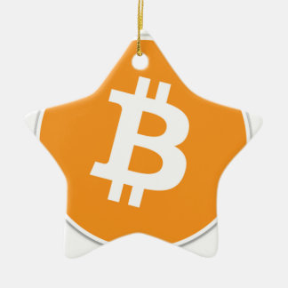 Ornement Étoile En Céramique Crypto devise de Bitcoin - pour le Bitcoin évente