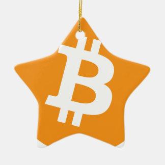 Ornement Étoile En Céramique Cryptocurrency de Bitcoin BTC