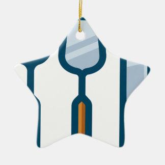 Ornement Étoile En Céramique Cuillère et couteau de fourchette