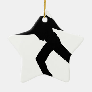 Ornement Étoile En Céramique Danseur de patineur de glace