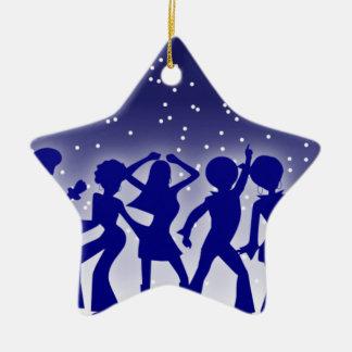 Ornement Étoile En Céramique Danseurs de disco