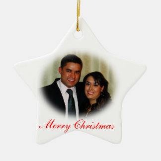 Ornement Étoile En Céramique Deca, Joyeux Noël