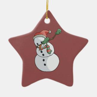Ornement Étoile En Céramique Décor drôle tamponnant de maison de Noël de