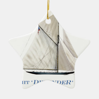 Ornement Étoile En Céramique défenseur 1895 de yacht