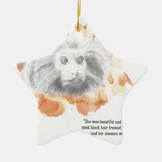 Ornement Étoile En Céramique Démon d'or de singe - ses matériaux foncés