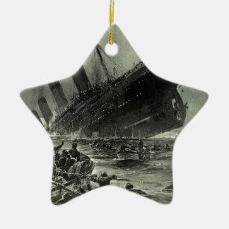 Ornement Étoile En Céramique Descente titanique