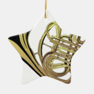 Ornement Étoile En Céramique Dessin de cor de harmonie