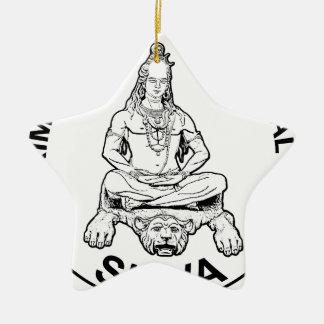 Ornement Étoile En Céramique Dieu éternel de seigneur Shiva et indien