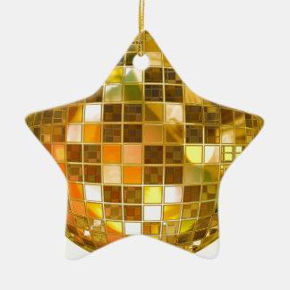 Ornement Étoile En Céramique Disco de partie de lumière de danse de saut de