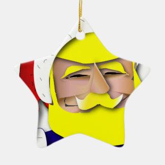 Ornement Étoile En Céramique Donald Claus