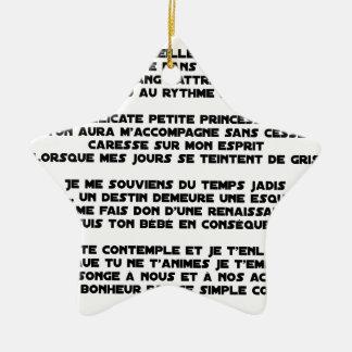 Ornement Étoile En Céramique DORS - Poème - Francois Ville
