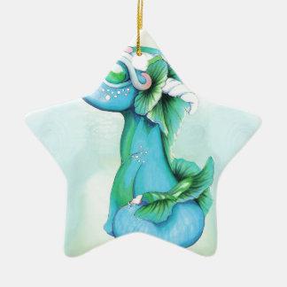 Ornement Étoile En Céramique Dragon d'eau décousu