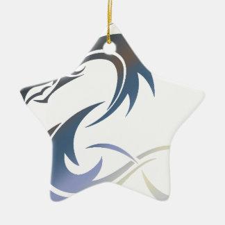 Ornement Étoile En Céramique Dragon métallique