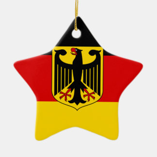 Ornement Étoile En Céramique Drapeau allemand