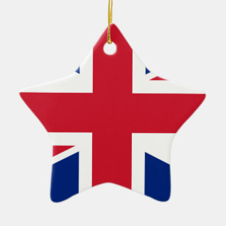 """Ornement Étoile En Céramique Drapeau BRITANNIQUE """"Union Jack """" du Royaume-Uni"""
