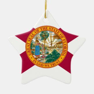 Ornement Étoile En Céramique Drapeau d'état de la Floride