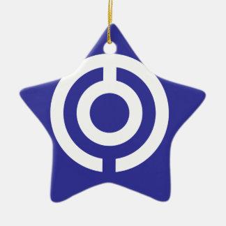 Ornement Étoile En Céramique Drapeau du Japon-Okinawa