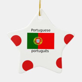 Ornement Étoile En Céramique Drapeau du Portugal et conception portugaise de