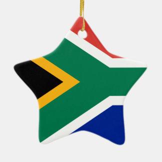 Ornement Étoile En Céramique Drapeau national sud-africain