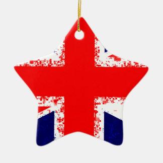 Ornement Étoile En Céramique Drapeau R-U de Londres de cric des syndicats