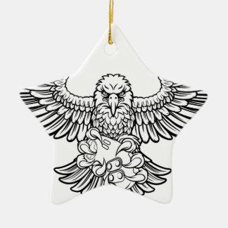 Ornement Étoile En Céramique Eagle Esports folâtre la mascotte de Gamer