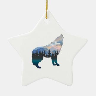 Ornement Étoile En Céramique Écho de Yellowstone