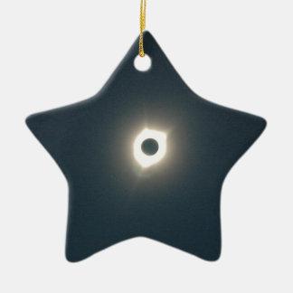Ornement Étoile En Céramique Éclipse 2017 - Stupéfier de totalité - image