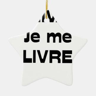 Ornement Étoile En Céramique ÉCRIVAIN, je me LIVRE - Jeux de Mots