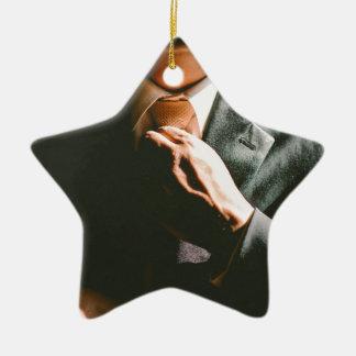 Ornement Étoile En Céramique Effet d'ombre de cravate d'homme d'affaires de