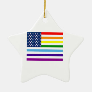 Ornement Étoile En Céramique Égalité américaine