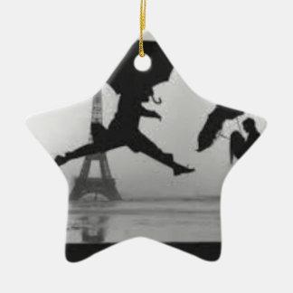 Ornement Étoile En Céramique Eiffel Tower Love Paris