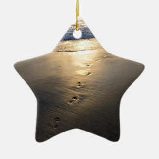 Ornement Étoile En Céramique Empreintes de pas de disparition